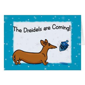 Dachshund Hanukkah Card