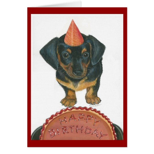Dachshund Happy Birthday Card