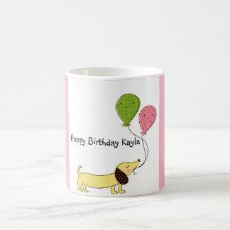 Dachshund Happy Birthday Customized Mug