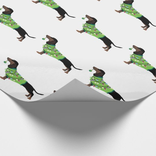 Dachshund Happy Holidays Design Wrapping Paper