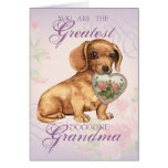 Dachshund Heart Grandma Cards