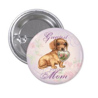 Dachshund Heart Mom 3 Cm Round Badge