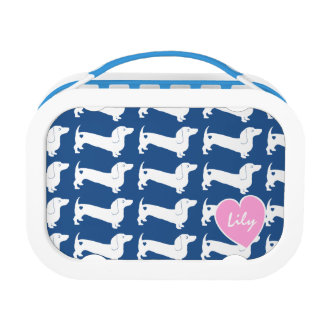 Dachshund Heart Pattern Lunch Box