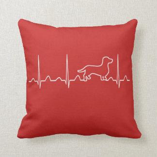 Dachshund Heartbeat Cushion