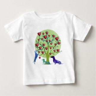 Dachshund Hearts Garden Art Fine Jersey T-Shirt