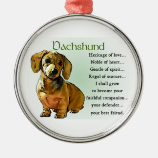 Dachshund Heritage of Love Christmas Ornament
