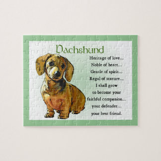 Dachshund Heritage of Love Jigsaw Puzzle