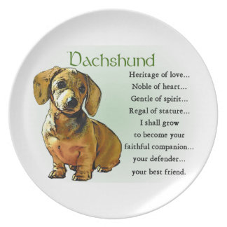 Dachshund Heritage of Love Plate
