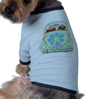 Dachshund Hippies In Their Flower Love Mobile Pet Clothes