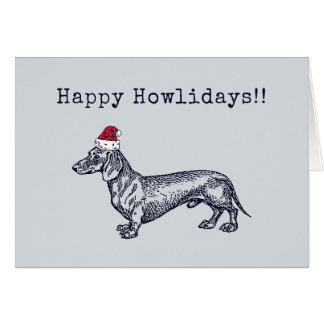 Dachshund Holiday Card