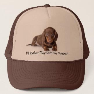 dachshund, I'd Rather Play with my Weiner! Trucker Hat