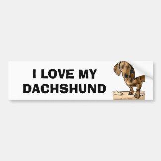 Dachshund Image Bumper Sticker