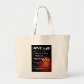 Dachshund in 3D Large Tote Bag