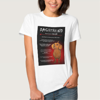 Dachshund in 3D T-shirts