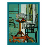 Dachshund In Bed Room Poster