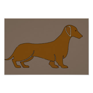 Dachshund In Brown Poster