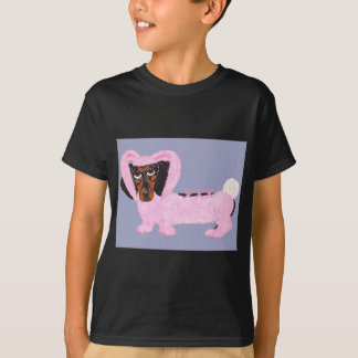 Dachshund In Fuzzy Pink Bunny Suit T-Shirt
