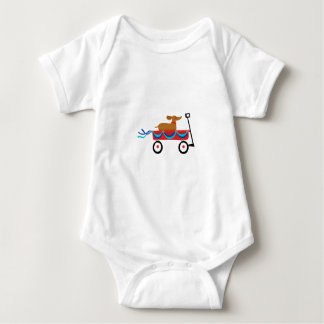 Dachshund In Wagon Baby Bodysuit