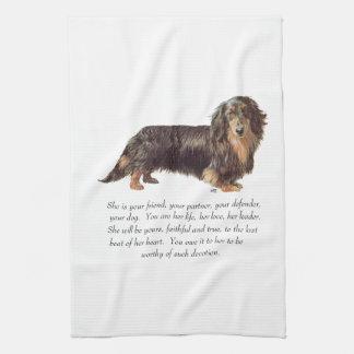 Dachshund Keepsake - Female Towels