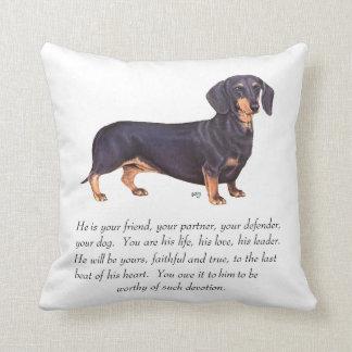 Dachshund Keepsake - Male Throw Cushion
