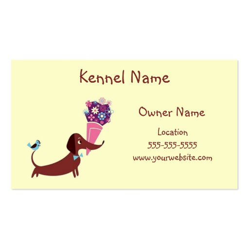 dachshund kennel business card template