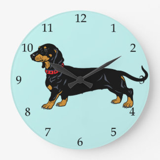 dachshund large clock