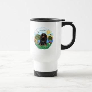 Dachshund (LH - Black-Tan) Stainless Steel Travel Mug