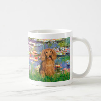 Dachshund (LHSable) - Lilies 2 Coffee Mug