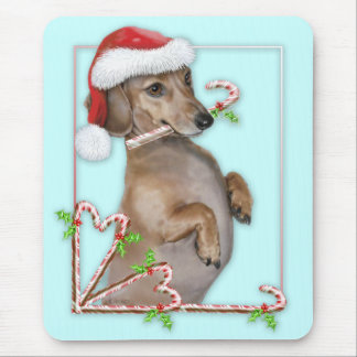 Dachshund Lilly's Candy Canes Mouse Pad