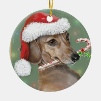 Dachshund Lilly's Christmas Christmas Ornament
