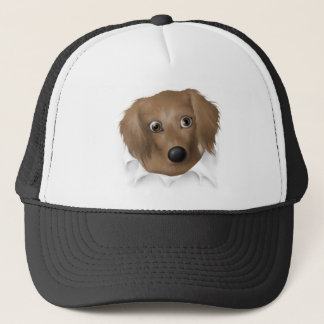Dachshund (Long Hair) Busting Out Trucker Hat