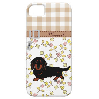 Dachshund Long Haired Black and Tan iPhone 5 Cover
