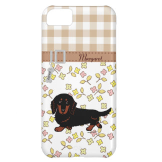 Dachshund Long Haired Black and Tan iPhone 5C Case