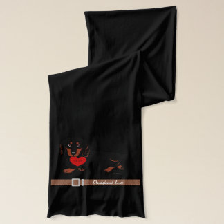Dachshund Long Haired Black and Tan Scarf