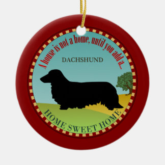 Dachshund [Long-haired] Christmas Ornament