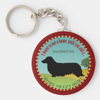 Dachshund [Long-haired] Key Ring