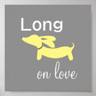 Dachshund Long on Love Wall Art Poster Print