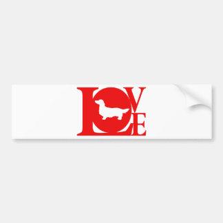 Dachshund Longhaired Bumper Sticker