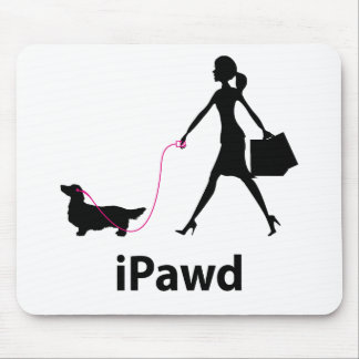 Dachshund Longhaired Mouse Mat