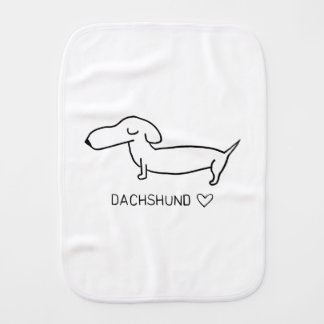 Dachshund Love Burp Cloth
