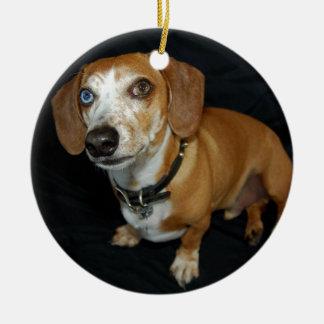 Dachshund Love Christmas Ornament