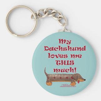 Dachshund Love Keychain