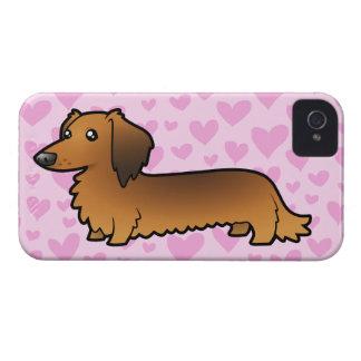 Dachshund Love (longhair) Case-Mate iPhone 4 Case