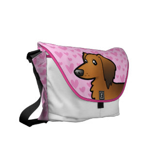 Dachshund Love (longhair) Commuter Bag