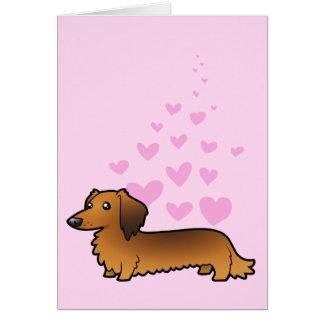 Dachshund Love longhair Greeting Card