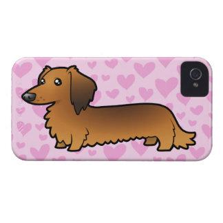 Dachshund Love (longhair) iPhone 4 Cases