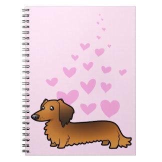 Dachshund Love (longhair) Spiral Note Book