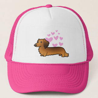 Dachshund Love (longhair) Trucker Hat