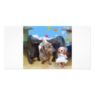 Dachshund Love Picture Card