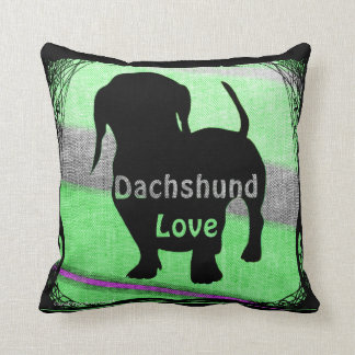 Dachshund Love pillow by Carol Zeock Cushion